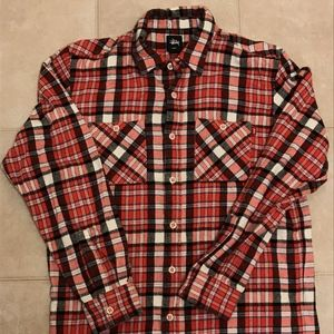 STUSSY Long Sleeve Heritage Plaid Button up